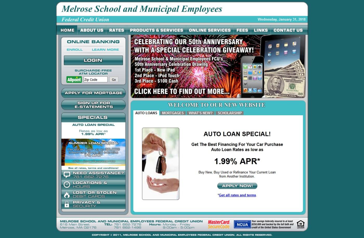 Melrose School and Municipal Employees FCU
