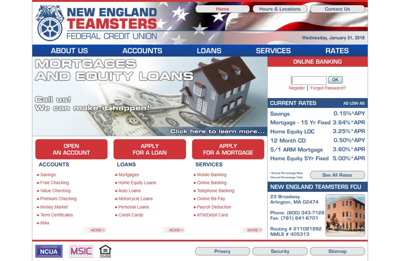New England Teamsters FCU